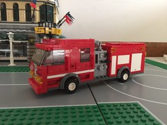 Engine 4: driver's side (Castle Beach FD) Tags: fire lego engine spartan gladiator pumper triplecombination
