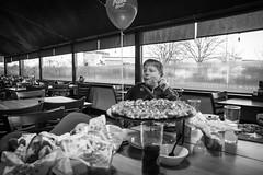 feeding (pamelaadam) Tags: bw food digital spring fotolog pizza april pizzahut aston 2016 fossepark liecester thebiggestgroup engerlandshire godbrat