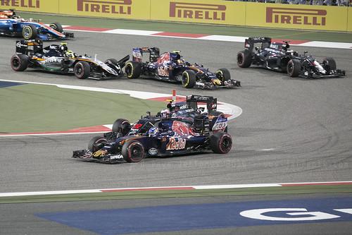 F1 race - Perez hits Sainz