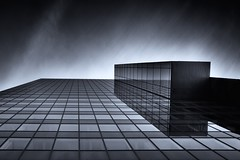 [From the Series: Urban Facade Abstractions] (Thomas Bonfert) Tags: vienna urban lines architecture reflections dark