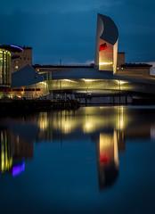 IWMN (Kelly's Eye Pics) Tags: blue reflection water museum war north hour da imperial salford quays iwm 1685mm pentaxk5ii