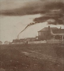 Tornado in Anderson County, Kansas. Stereograph view of a tornado as it passed just northwest of Garnett, near Central City. A. A. Adams took the photograph from a street corner near the United Presbyterian Church. Reported to be the first photograph of a (Histolines) Tags: from county street city history church corner view adams northwest near united central taken first it retro just passed anderson photograph be kansas timeline stereograph tornado ever took presbyterian garnett vinatage reported a 1500x1000 historyporn histolines httpifttt1vcy5f6
