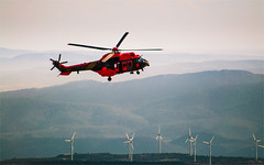 hello friends!!... (nmaicas) Tags: red mountains fly windmills helicopter
