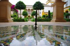 Seville - Pilato's House little fountain (Marco_964) Tags: fountain garden seville giardini riflesso pilato siviglia fontata
