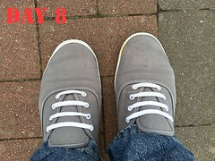 DAY 8 #keds (slo.jean) Tags: new old wet hole used worn torn 365 trashed keds