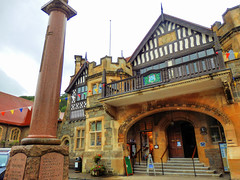 Lynton, North Devon (photphobia) Tags: uk summer holiday building architecture buildings cloudy outdoor overcast devon townhall lynmouth northdevon lynton oldwivestale lyntonandlynmouth