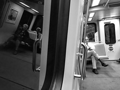 Metro Reflections (IamJomo) Tags: blackandwhite bw reflection apple monochrome washingtondc metro iphone jomo takenwithaniphone iphoneography iphone6 snapseed smallworldphotos jomophoto