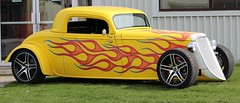 Performance Improvements (jmaxtours) Tags: toronto ford yellow flames hotrod etobicoke 1933 torontoontario etobicokeontario performanceimprovements factory533ford