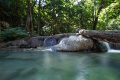 Thailand - Erawan Waterfalls National Park (Cyrielle Beaubois) Tags: park travel water thailand asia turquoise thalande national waterfalls southeast kanchanaburi erawan 2015 canoneos5dmarkii cyriellebeaubois