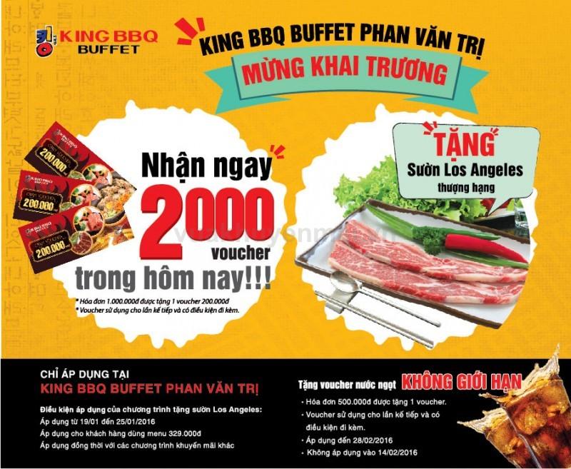 Khai trương KingBBQ Buffet Phan Văn Trị