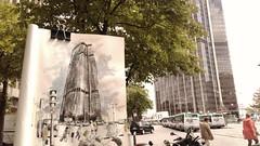 Montparnasse_last summer sketch colored (velt.mathieu) Tags: paris montparnasse croquis urbansketchers