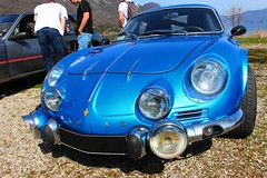 Renault Alpine A110 (alex73s https://www.facebook.com/CaptureOfAlex?pnr) Tags: auto old blue classic car canon french automobile european francaise transport lac meeting automotive du voiture retro renault bleu alpine coche oldcar macchina ancienne bourget vehicule a110 rassemblement europeenne