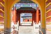 Entrance gate of Temple of Heaven in Beijing. (Loïc Lagarde) Tags: china city architecture cn temple 50mm asia beijing asie 北京 templeofheaven ville 2010 bejing pekin pékin canonef50mmf14usm ef50mmf14usm canoneos7d