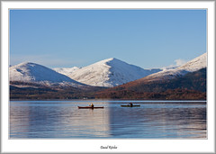 Winter Kayakers (flatfoot471) Tags: winter landscape scotland kayak unitedkingdom normal lochlomond stirlingshire 2016 balmaha millarochybay bendubh