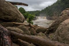 Cumberland Falls (jackdean3) Tags: mist nature water jack waterfall kentucky dean falls boulders driftwood cumberland