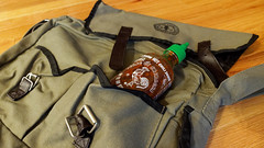 Don't leave home without it (LeftCoastKenny) Tags: bag floor luggage hotsauce 169 sriracha cinematicaspectratio shadowip
