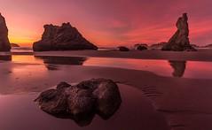 Twilight on Bandon Beach (Cole Chase Photography) Tags: sunset oregon canon pacificnorthwest bandon seastacks t3i