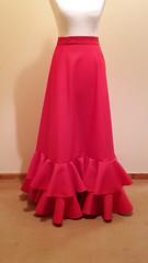 Red flamenco skirt (mongyandweasel) Tags: red dance costume skirt flamenco frill
