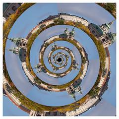 Castle Droste (Kieran Commins) Tags: spiral prague creative gimp droste mathmap