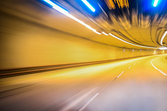 nova portal (pbo31) Tags: sanfrancisco california winter motion color yellow night nikon driving traffic infinity tunnel motionblur bayarea february curve tilt presidio roadway 2016 lightstream boury pbo31 d810 windowclip presidioparkway
