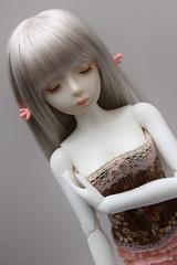 Artist head Mian Mian (Damasquerade) Tags: flower artist body head wing ears elf corset bjd unusual hybrid rare ruffle sculpt impldoll