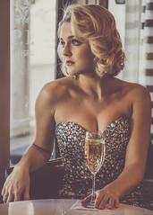 McConnell (rhn3photo) Tags: portrait people woman window glass girl beauty youth bar ga georgia wine champagne blueeyes naturallight blonde glam augusta gown sequins seated rhinestones glamor mcconnell windowlight glamorous augustaga ballgown partridgeinn