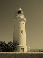 Lighthouse (STEHOUWER AND RECIO) Tags: lighthouse sepia faro cyprus vuurtoren paphos parola   mercusuar   ngnhing