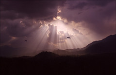 Mistery of the sky 02 (Katarina 2353) Tags: nepal sunset sky mountain storm film clouds spring nikon kathmandu katarinastefanovic katarina2353