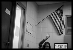 DSC06228_DxO (bob zdeb) Tags: student hand classroom flag