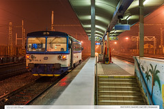 810.519-9 | Os4245 | tra 330 | Otrokovice (jirka.zapalka) Tags: rain night train cd os railstation otrokovice stanice trat330 rada810