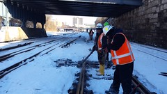 Metro-North Cleans Up During Blizzard (MTAPhotos) Tags: snow weather snowstorm blizzard metronorth metronorthrailroad blizzard2016