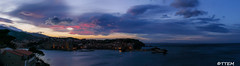 Blue Hour in Collioure (Tra Te E Me (TTEM)) Tags: blue sea sky panorama mer clouds view ciel hour collioure nuages roussillon extrieur vue languedoc