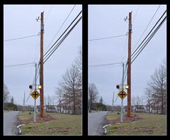 Telephone Pole Crossing - Parallel 3D (DarkOnus) Tags: lumix stereogram 3d crossing pennsylvania telephone pole panasonic stereo telegraph stereography buckscounty htt dmcfz35 telegraphtuesday darkonus