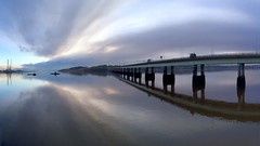The calm beyond the storm (stuant63) Tags: bridge river scotland dundee calm tay