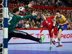 EHF EURO 2016 Sweden vs Russia (dziurek) Tags: people playing man game men cup sport ball team jump nikon europe european hand power action sweden russia euro c group attack poland player professional tournament d750 match strong shooting strength championships handball champions struggle active determination 2016 ehf faigth