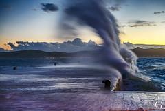 Sky is the Limit (TranceVelebit) Tags: sunset sea storm weather hit waves waterfront riva wind dusk croatia wave windy splash zadar adriatic dalmatia
