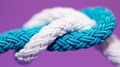 A Day to Unite - World Cancer Day 2016 (Kate H2011) Tags: white texture pattern dof purple turquoise cancer indoor depthoffield plaited 2016 cancerresearchuk worldcancerday unityband katehighley adaytounite