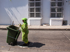 Street Cleaner in Cartagena, Colombia (ChrisGoldNY) Tags: street city travel urban streets latinamerica southamerica colombia forsale albumcover worker caribbean bookcover cleaner cartagena bookcovers albumcovers centrohistorico licensing historiccenter chrisgoldny chrisgoldberg chrisgoldphoto