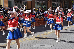 Lasso drill team (Ashley3D) Tags: 6 white stockings hat female boot drive team cowboy san downtown day texas cattle boots young hats sunny skirt parade short marching stocking february antonio skirts drill lasso 2016 sanantoniorodeo