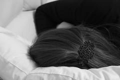 Abstract - Dreamy Diaries (Mithaq Kazimi) Tags: sleeping blackandwhite woman abstract black girl model hands women dream dreaming sleepy diaries hairbun