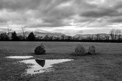 Castlerigg stone circle (Spannarama) Tags: uk snow mountains water grass clouds reflections puddle stones lakedistrict hills cumbria peaks keswick stonecircle castlerigg castleriggstonecircle