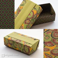 Origami Box (Maria Sinayskaya) Tags: origami folded a4 modularorigami tomokofuse origamibox chiyogamipaper silverrectangle tantpaper rectangle1sqrt2 fusevariousboxesandcases isbn4416303025 isbn9784416303023