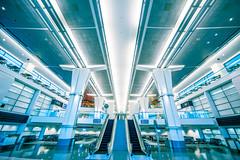 You and Me, Me and You (Thomas Hawk) Tags: sanfrancisco california usa airport unitedstates sfo unitedstatesofamerica escalator sanfranciscointernationalairport fav10