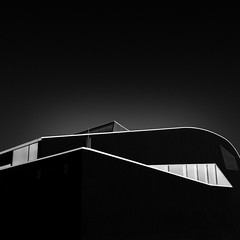 urban see dreaming (gkphotography.lt) Tags: light sea sky urban blackandwhite abstract building monochrome lines architecture square landscape fuji geometry curves wave minimal forms minimalism luxembourg minimalistic ettelbruck fujixt1 daichhal