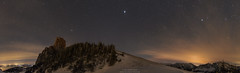 Kampenwand night panorama (Bernhard_Thum) Tags: alps nature night nationalgeographic kampenwand nightonearth starrysky elitephotography landscapesdreams daarklands nikond800e otus1428 distagonotus2814zf