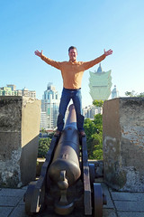 Macau Chinese Lunar New Year 2016, Fortaleza do Monte, Kevin on a cannon 2 (divemasterking2000) Tags: china city winter fling asian photography asia do king fort chinese historic east adventure fortaleza cannon monte adventures macau defensive fortress fareast portuguese far defense hilltop macao 2016 portuguesefort macauchina kaptures fortalezadomontemacau fareastfling kingkaptures kingkapturesphotography