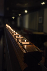 the candles (annburlingham) Tags: decorations restaurant candles angle edited diagonal winner holeinthewall tcf unanimous thechallengefactory february2016