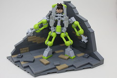 Mech! (Michael the juggler) Tags: wall lego telephone futuristic mech npu exosuit