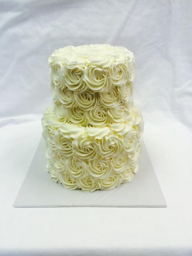 winter white rosette cake flickr photo - rosette wedding cake ...