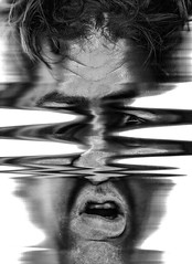 Scan 46: Found in Transmission (A Durst Photo) Tags: portrait people selfportrait eye art face hair scanner bodypart typeofphotography alternativrprocess